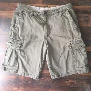 Old Navy green cargo shorts men's 34